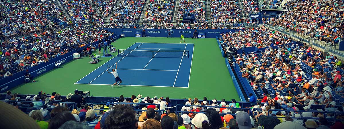 Partido de Grand Slam en curso